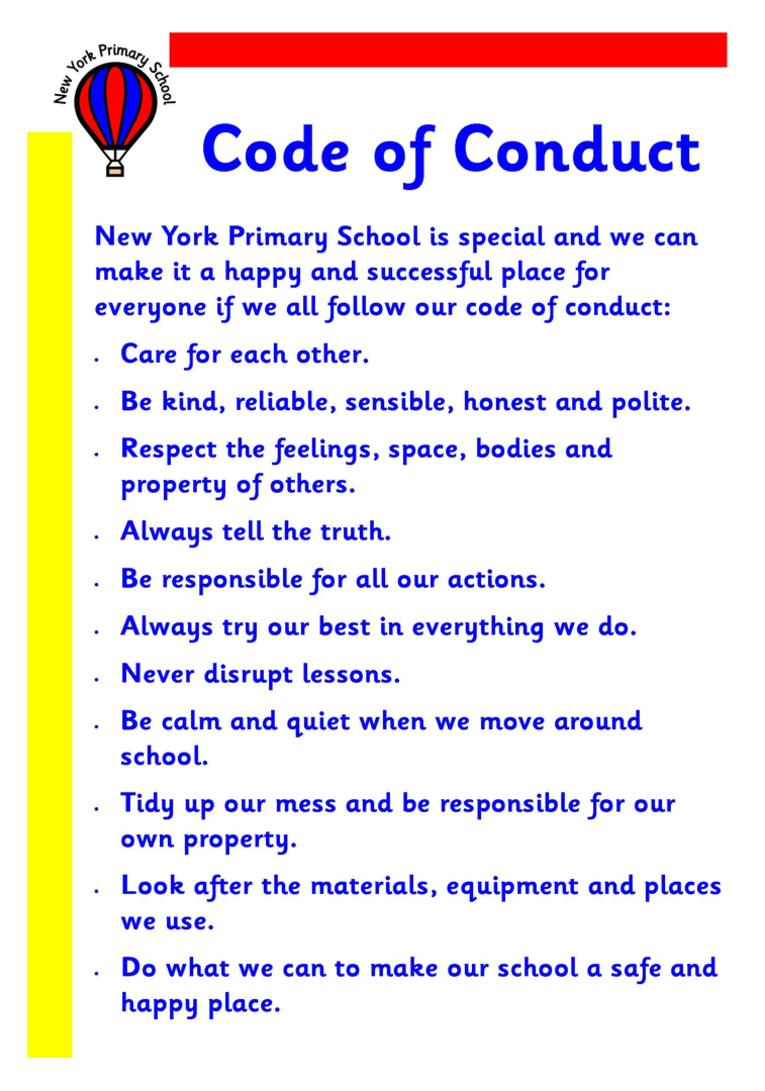 Code of conduct anti bullying leaflet altavistaventures Image collections