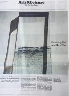Dawn DeDeaux feature on the cover New York Times Arts & Leisure Section