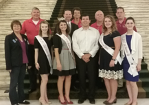 Pageant royalty and Kiwanis Club with Rep. Will Fourkiller on the House floor.