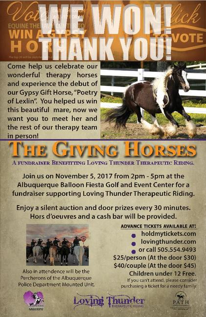 The Giving Horse invitation