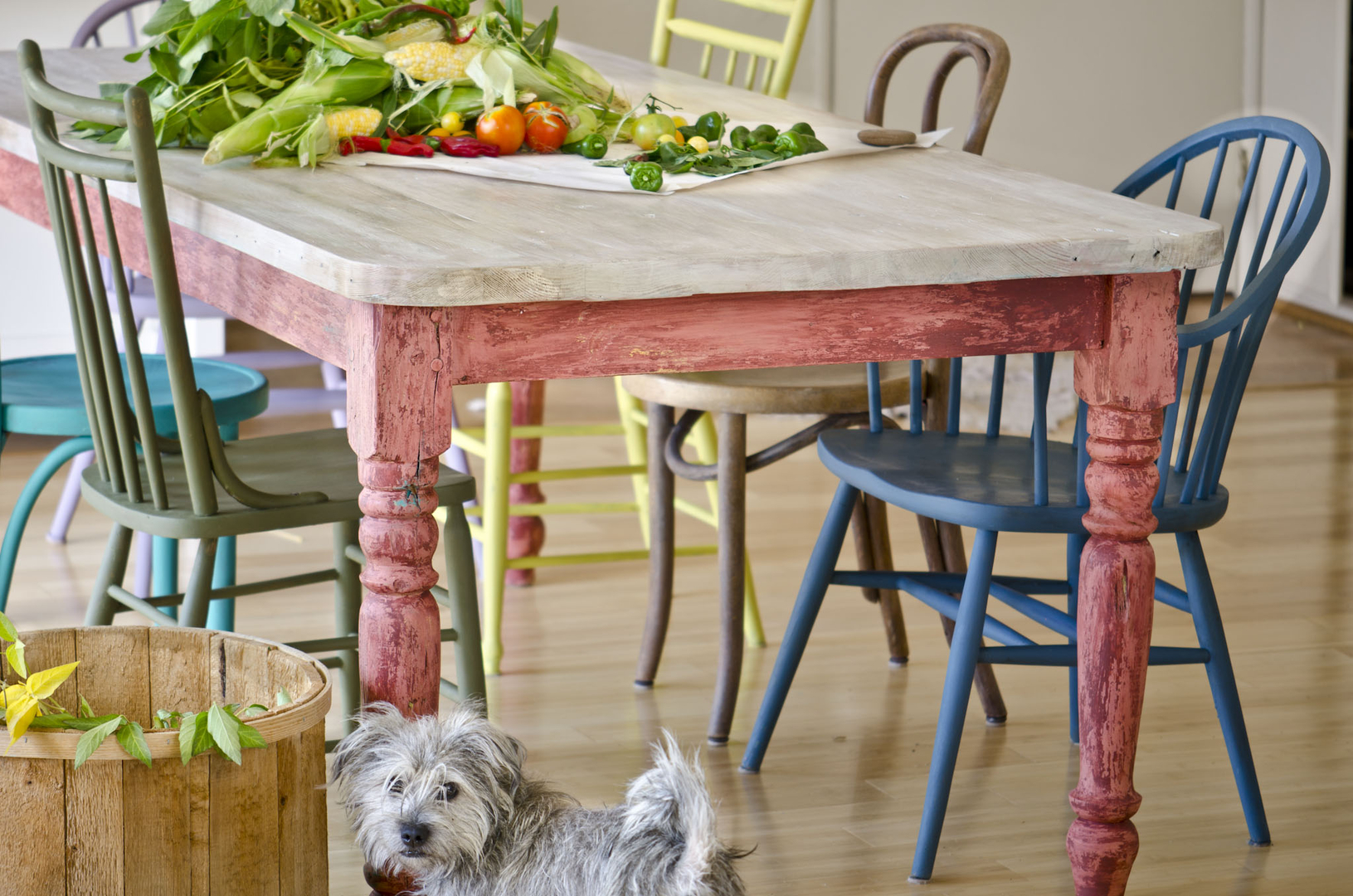 reclaimed wood dining table | old pine
