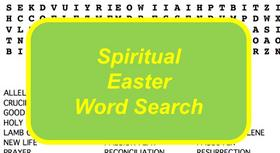 Spiritual Easter Word Search Puzzle with Religious Terms