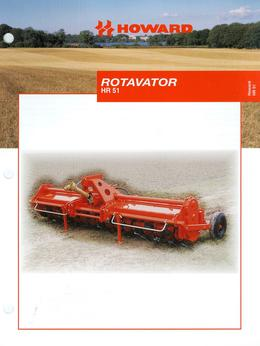 Howard Rotavator Model HR51 Brochure