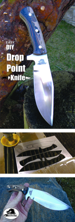 DIY Easy Drop Point Knife. FREE step by step instructions. www.DIYeasycrafts.com