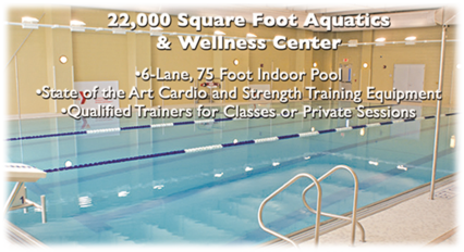 picture of the six lane seventy five foot swimming pool at the Dryades YMCA Fitness center