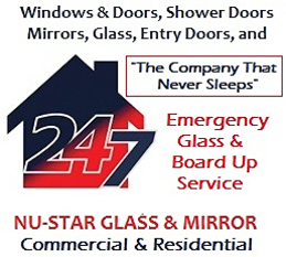 business logo nu-star glass and mirror