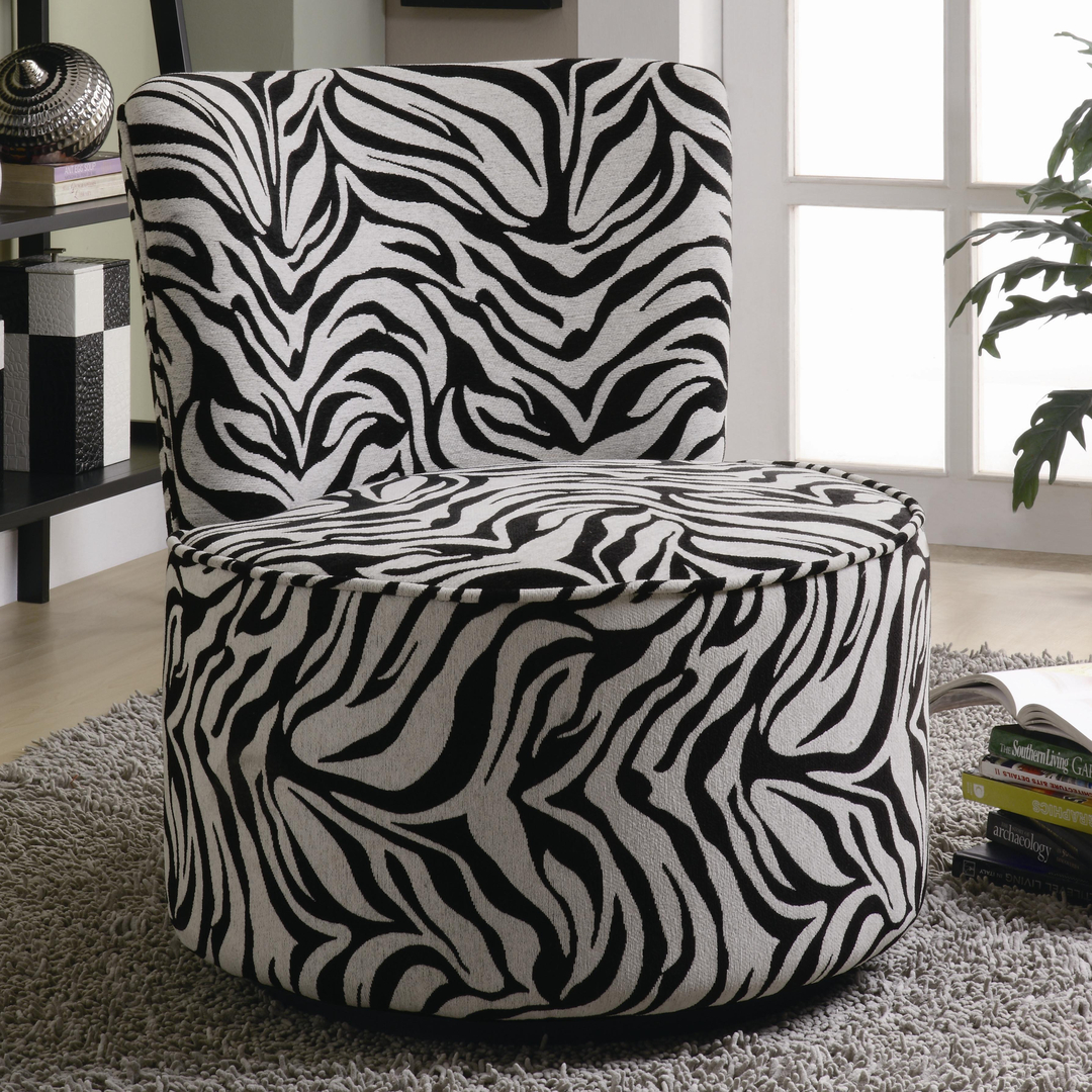 Zebra Living Room Set Accent Chairs