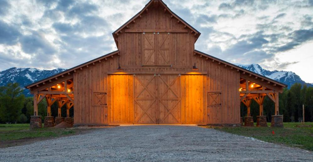 Timber frame post beam barn builders rustic building for Custom barn homes