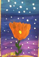 Student artwork grade 4 - flower