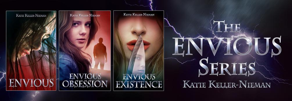 The Envious Series, by Katie Keller-Nieman. Fantasy romance psychological must read book series. Lightning, book covers