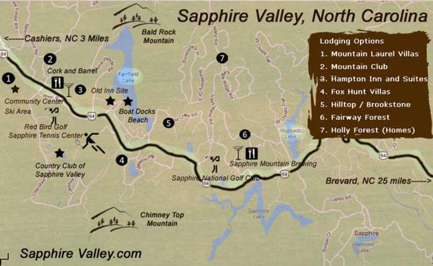 Maps  Sapphire Valley Resort North Carolina Vacations