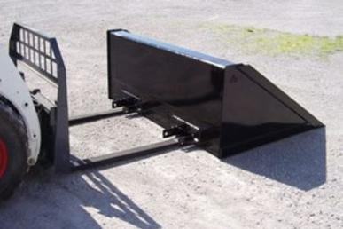 Fork Mounted Snow Blade for Fork Lift, Skid Steer, Telehandler
