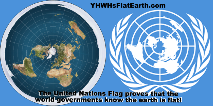 New Flat Earth Map.Yhwhs Flat And Stationary Earth