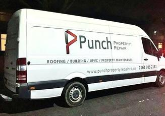 Punch Property Repair Company Van