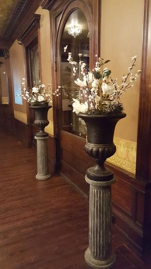 Columns and Urns with Floral as Wedding Decor MN