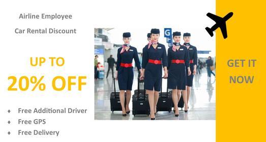 Airline Staff Car Rental Offer