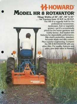 Howard Rotavator Model HR8 Rotavator Brochure