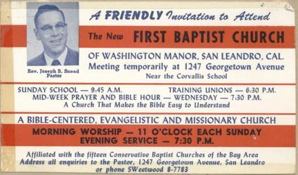 Our History - Manor Baptist Church