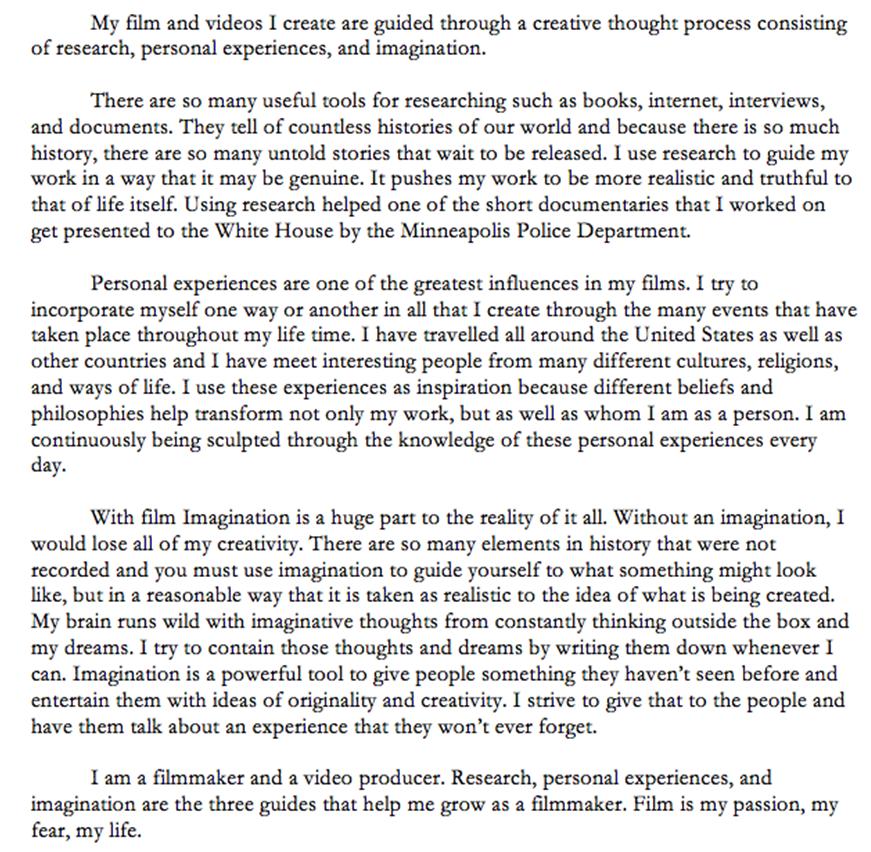 Freelance Production Assistant Resume Video Script