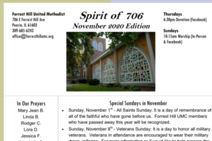 Spirit of 706 Newsletter - November 2020
