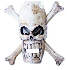 skull, skeleton home decor wood carvings