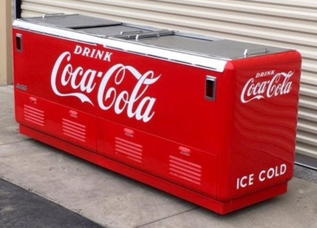 Coca-Cola Quikold Chest Cooler antique soda machine
