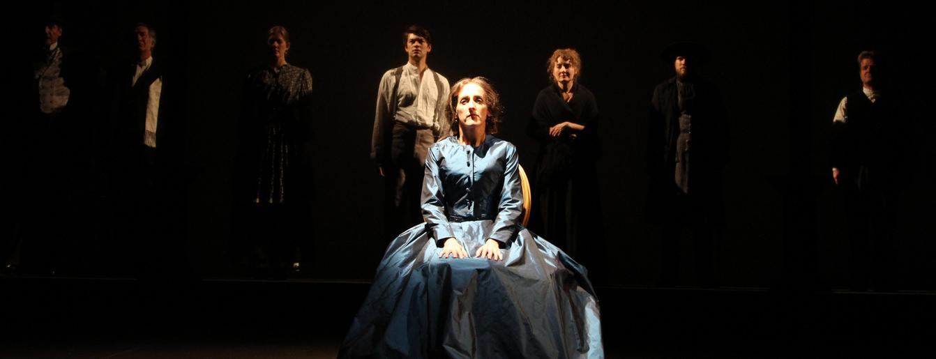 Aedin Moloney, George Eliot in A Most Dangerous Woman, Cast, World Premiere at Shakespeare Theatre of New Jersey, Directed by Richard Maltby, Bonnie Monte, Cathy Tempelsman