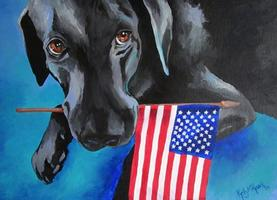 Buy Dog Bless the USA by Kelly Reark on Etsy