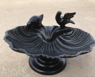 Bird bath after powdercoating