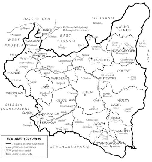 Ww2 Poland Map.Polish History Wwii