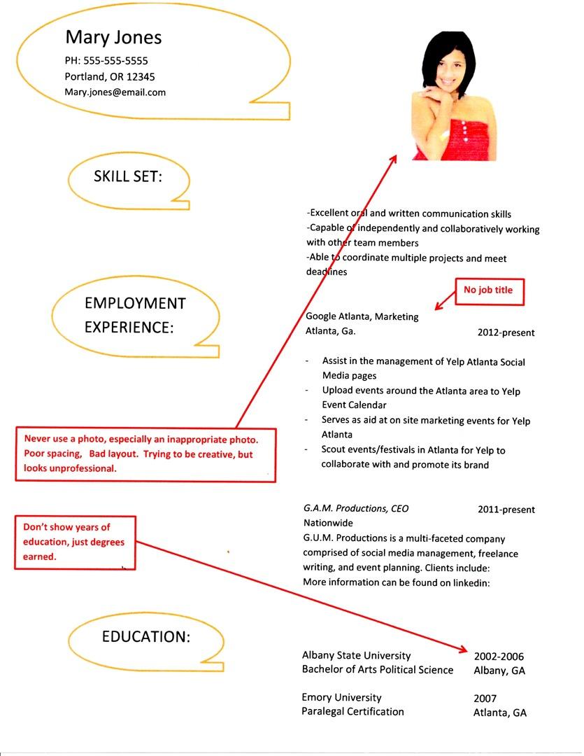 resume Bad Resume Examples bad resume examples
