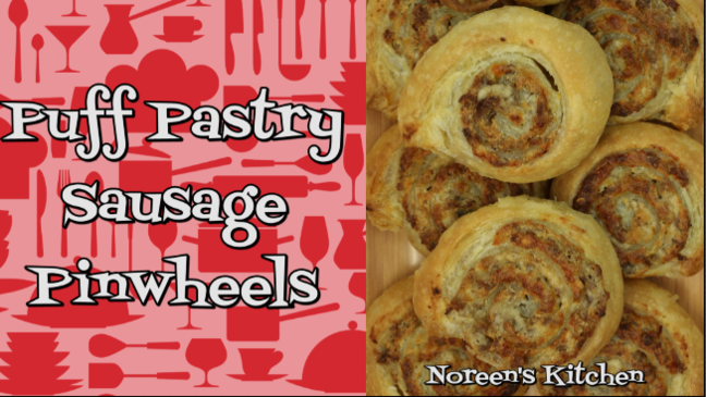 Puff Pastry & Sausage Pinwheels Recipe, Noreen's Kitchen