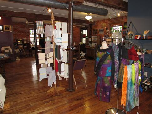 Art Galleries in West Michigan, Weaving Looms and Spinning Wheels.