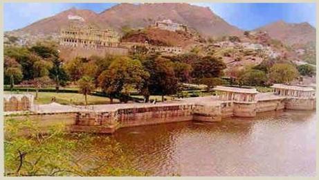 Ana Sagar Lake in Ajmer Rajasthan India....