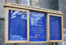 prestige oak church noticeboards