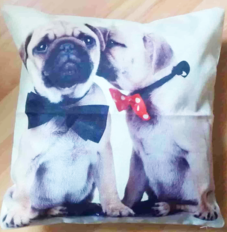 "Puppy Love Linen Blend Cushion 18x18"" the-little-flower-shop-florist-london-dog-cushion-linen-cushion-pattern-cu"