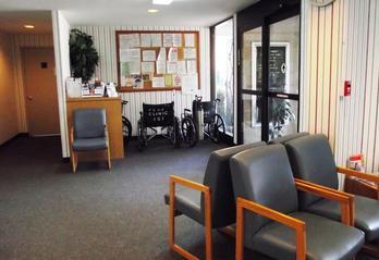 Falls Clinic waiting area