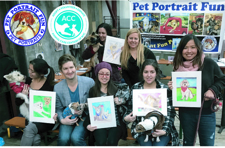 Paint Your Pet Party, Fundraiser NYC Animal Care Centers
