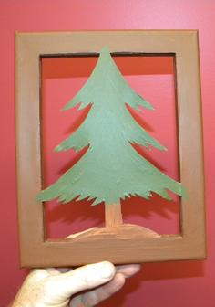 How to make Canvas Silhouette Christmas Decorations. www.DIYeasycrafts.com