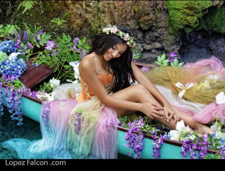 QUINCEANERA PHOTOGRAPHY IN MIAMI HOMESTEAD SECRET GARDENS CANOE