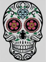 Cross Stitch Chart of Sugar Skull No 11