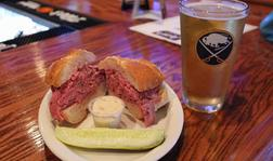 Hand Carved Roast Beef on Weck Sandwiches at Joey's Place on Hertel Ave