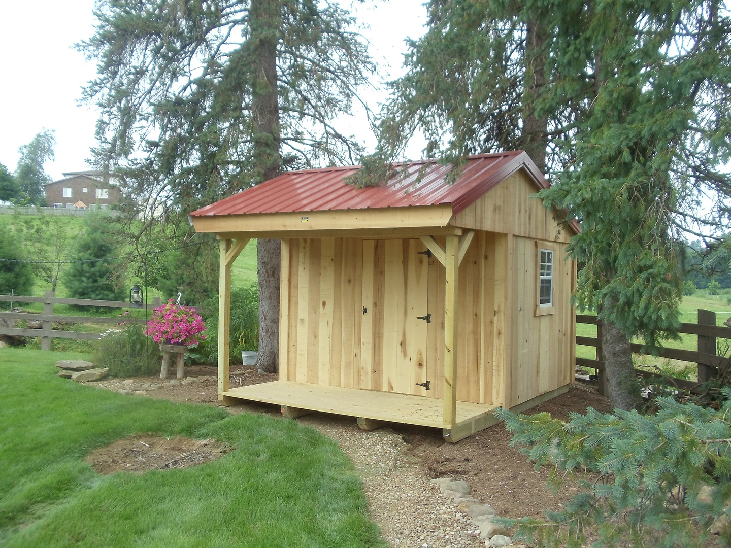8x10 garden shed with 4 porch