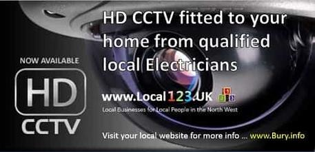 HD CCTV in Bury Manchester from JT Electrical