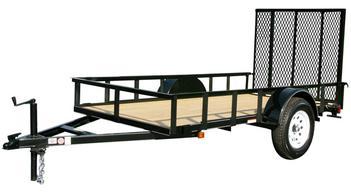 Landscape utility trailers for 5x10 wood floor trailer
