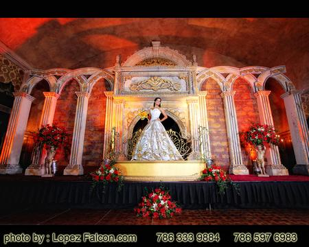 stage for quince party at the biltmore hotel coral gables miami