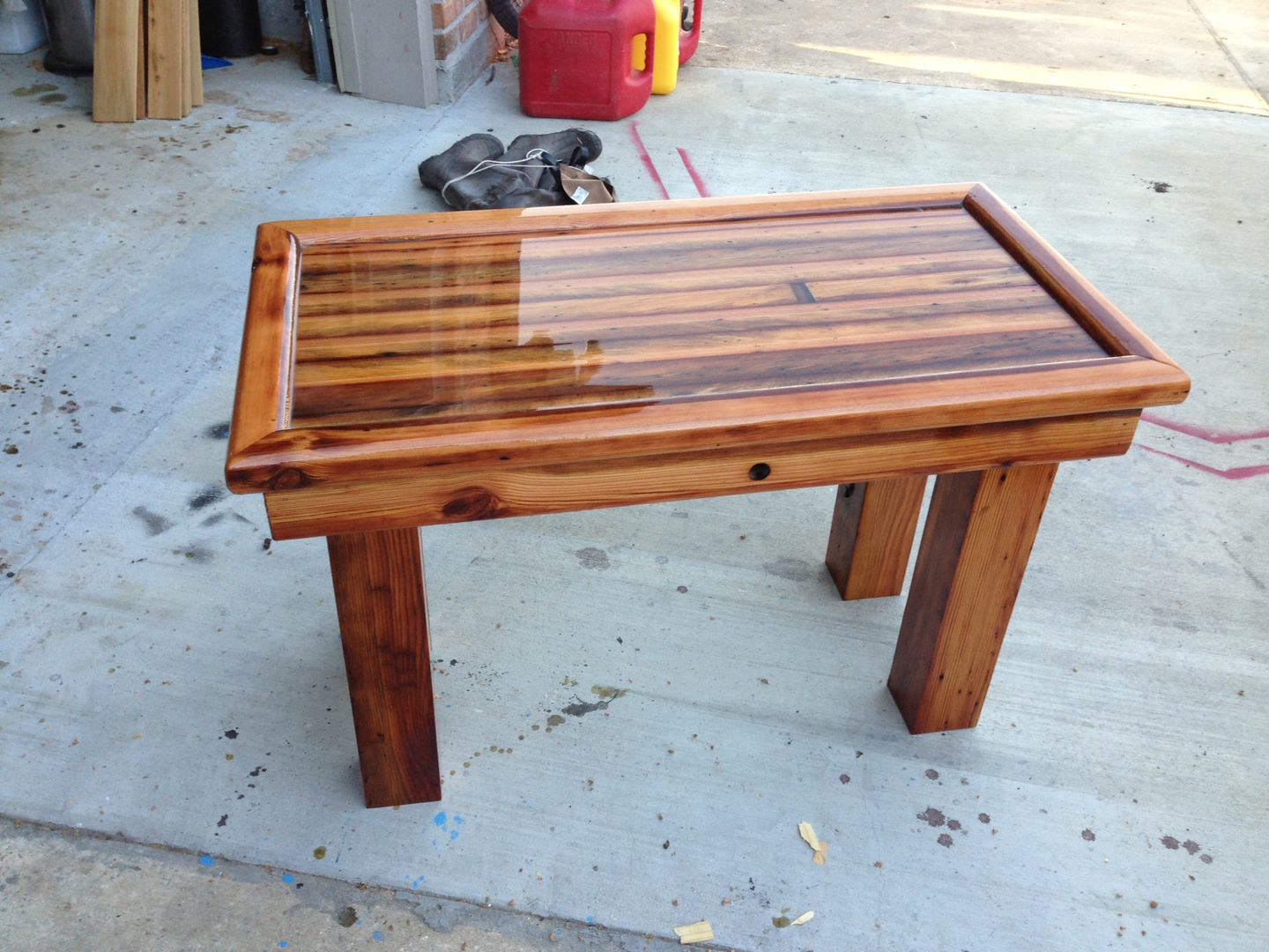 Reclaimed Cypress Coffee Table I Am Finishing Up With This Weekend The Top Has Plenty