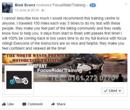 Focus Rider Training on Facebook