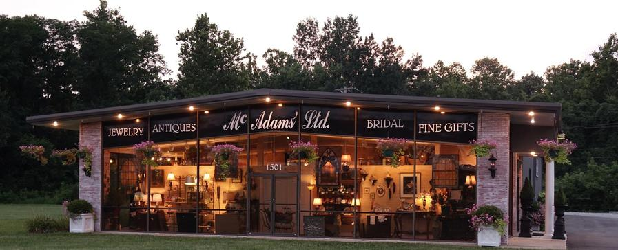 mcadams 39 ltd antiques and collectibles fine jewelry home decor. Black Bedroom Furniture Sets. Home Design Ideas