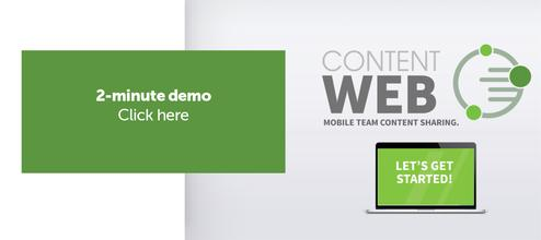 This is a two minute video demonstration of ContentWeb for team content sharing.